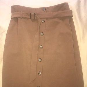 White House Black Market Tan Skirt